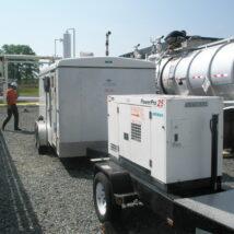 PowerPro 25 - 25,000 watt - diesel three phase - trailer mounted ($8,250)