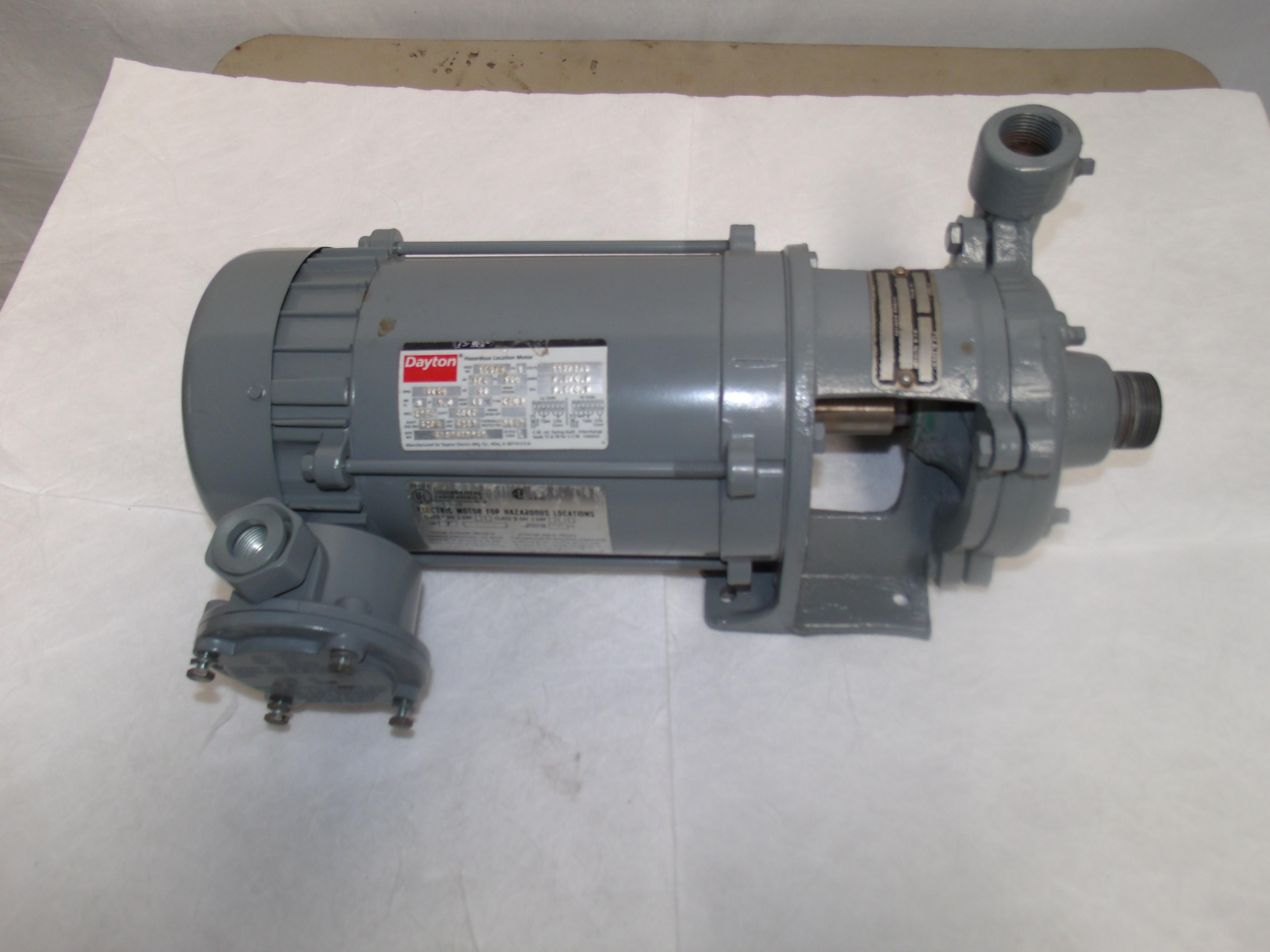 X005 Centrifugal Water Pump Dayton 3 4 Hp Motor