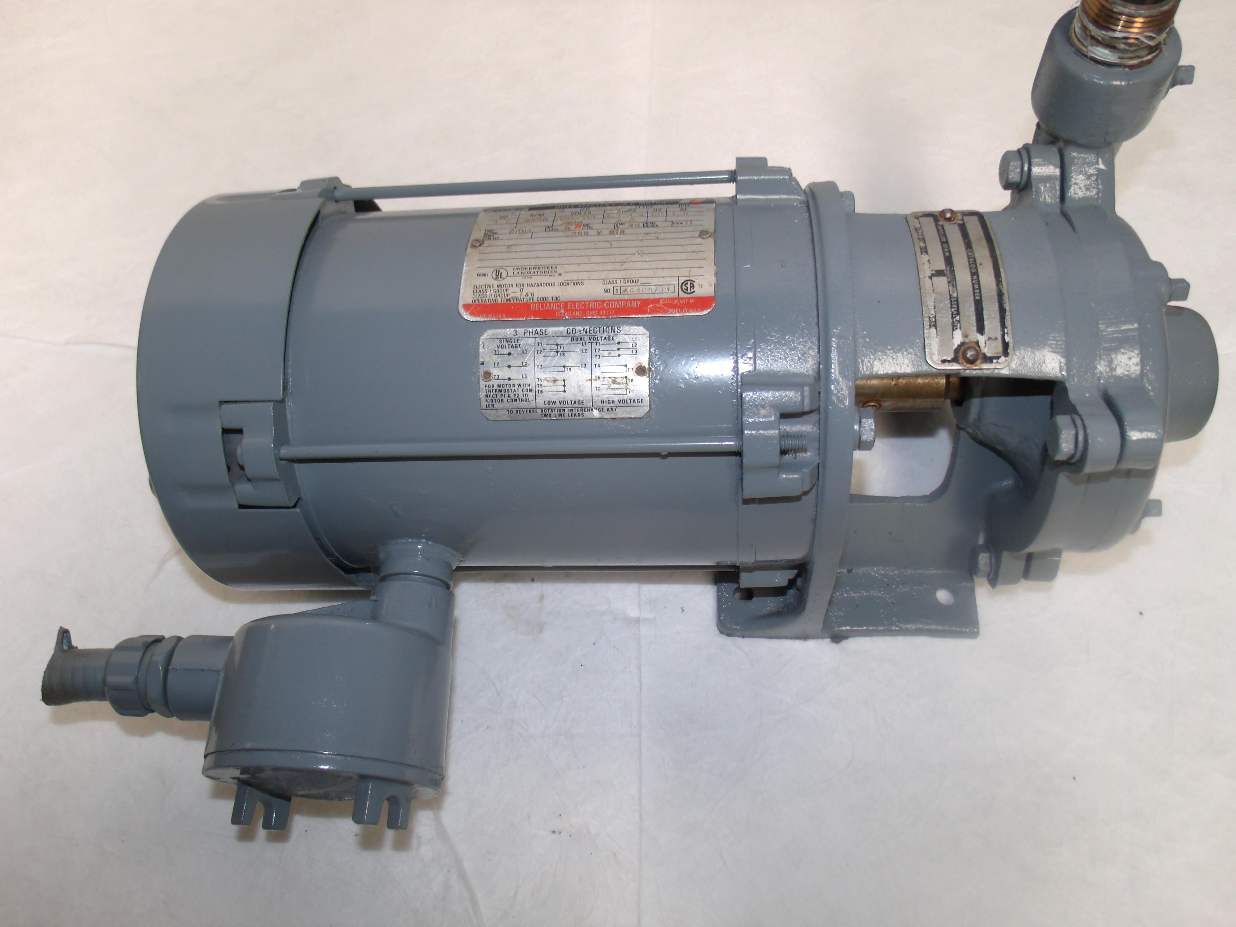 X007 Centrifugal Water Pump Reliance Motor