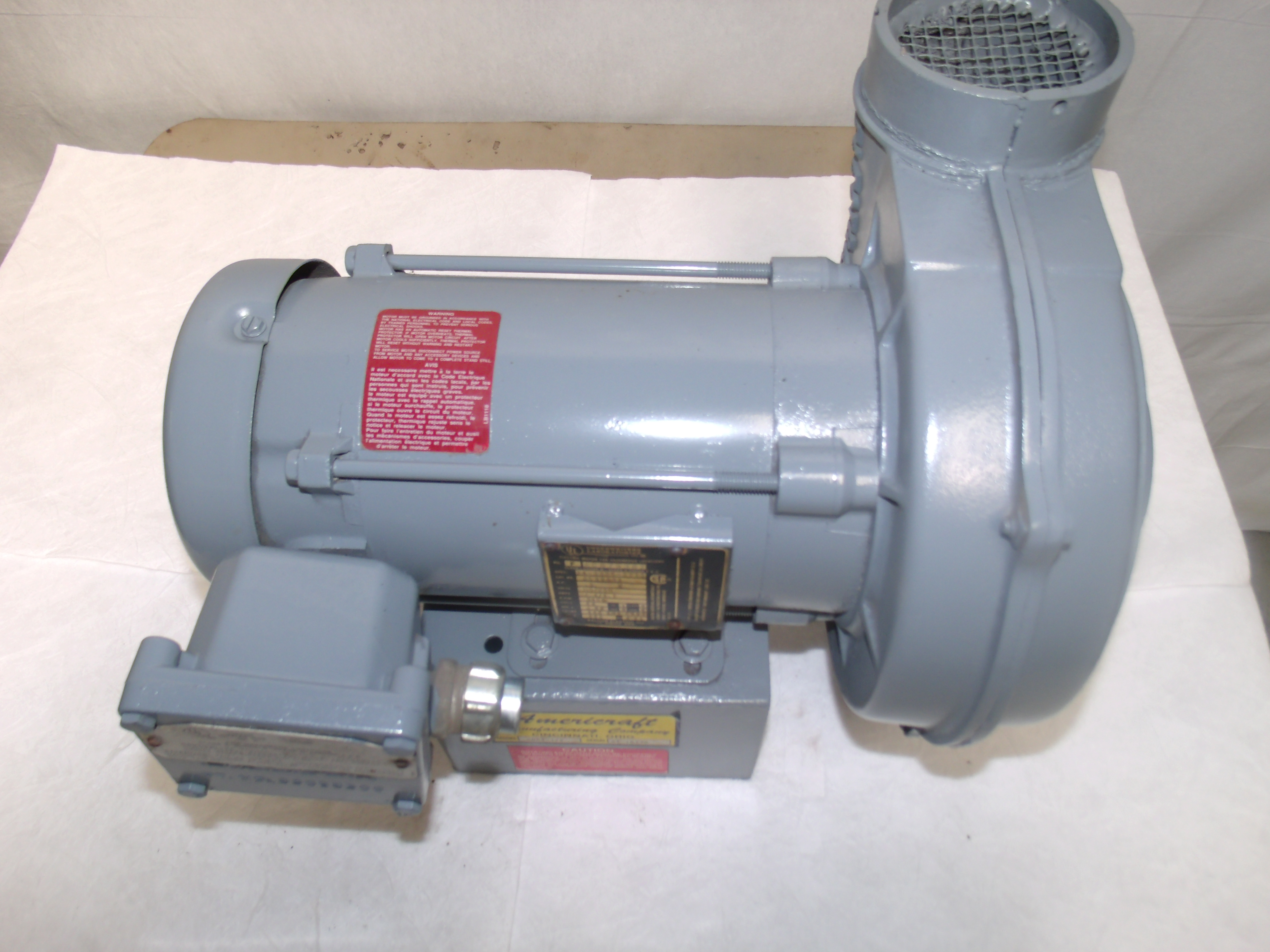 Sve004 american blower 5 hp 115 239 volt 8 4 3 7 for 10 hp single phase motor amps