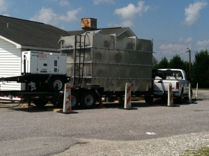 Aluminum tank 5,750 gallons, with 25KVA QuietTech Three-Phase Diesel Generator
