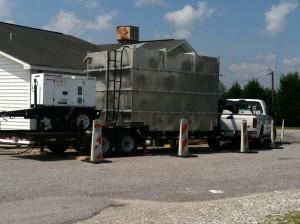 Aluminum tank 5,750 gallons, with 25KVA QuietTech Three-Phase Diesel Generator