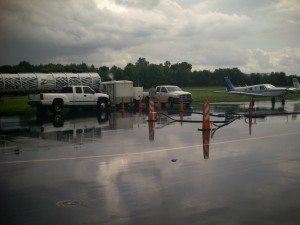 Multi-phase Extraction at a Municipal Airport. Facility 100% operational during event.